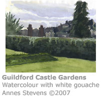 Guildford Castle Gardens by Annes Stevens