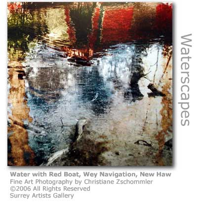 Christiane Zschommler's fine art photo of the Wey at New Haw