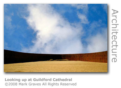 Looking up at Guildford Cathedral by Mark Graves