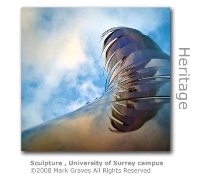 Sculpture at University of Surrey campus by Mark Graves