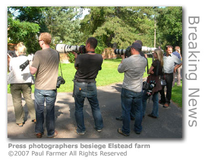 Foot & Mouth photographers at Elstead by Paul Farmer