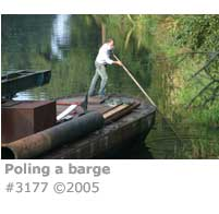 POLING A BARGE