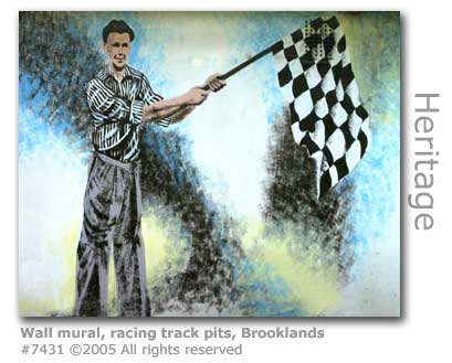WALL MURAL RACING PITS BROOKLANDS