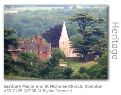 Eastbury Manor and St Nicholas Church, Compton