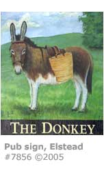 DONKEY PUB SIGN