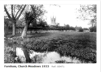 Water meadows by the River Wey Farnham 1933