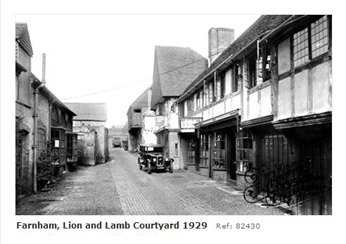 farnham Lion & Lamb Yard 1929
