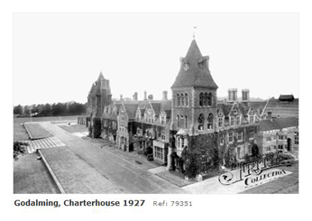 Charterhouse School from chapel 1927