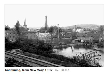 Godalming from New Way near station 1907