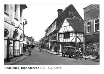 Goadlming High Street in 1935