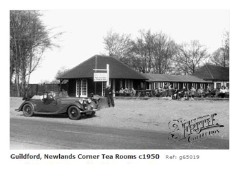 Motorists at Newlands Corner 1950