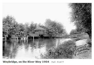 Weybridge along the Wey 1904