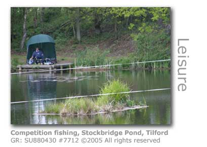 COMPETITION FISHING STOCKBRIDGE POND TILFORD