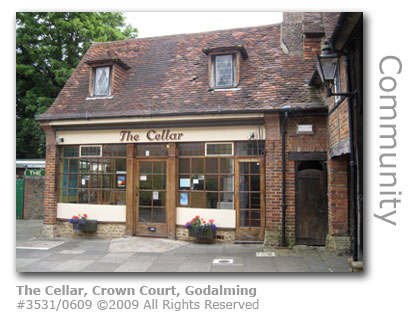 The Cellar Coffe Bar in Crown Court Godalming Surrey