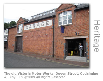The old Victoria Motor Works in Queen Street Godalming Surrey
