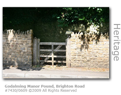 Godalming Manor Pound or penfold in Brighton Road, Godalming, Surrey