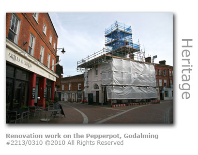 The Pepperpot in High Street, Godalming undergoing major renovation