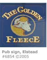 GOLDEN FLEECE PUB SIGN