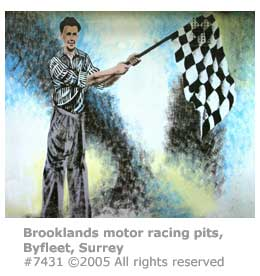 BROOKLANDS PITS WALL MURAL