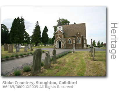 Stoke Cemetery in Stoughton, Guildford