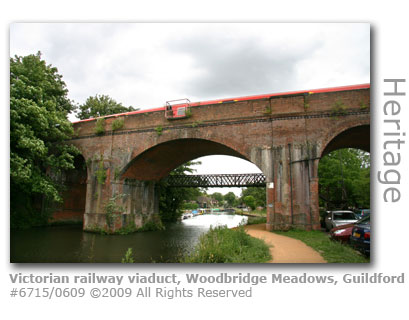 Victorian railway viaduct, Guildford