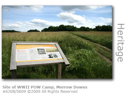 World War 2 prisinor of war camp, Merrow Downs, Guildford