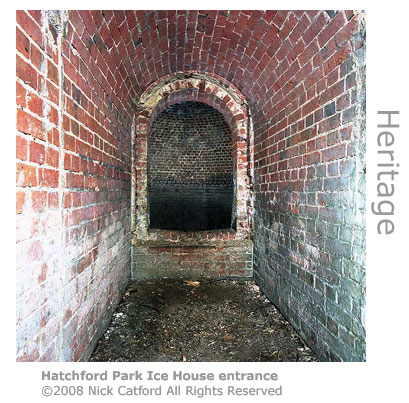 Hatchford Park Ice House entrance by Nick Catford