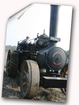 Vintage traction engine