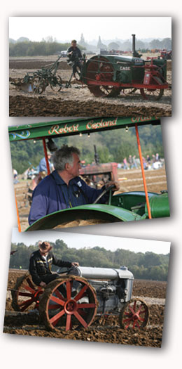Motorised ploughing the vintage way . . .