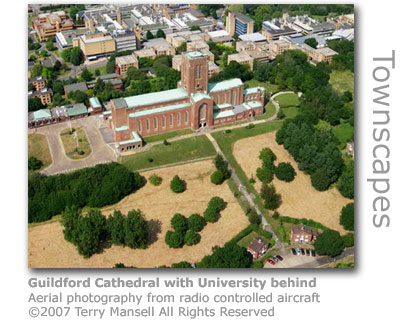 Guildford Cathedral and University by Terry Mansell