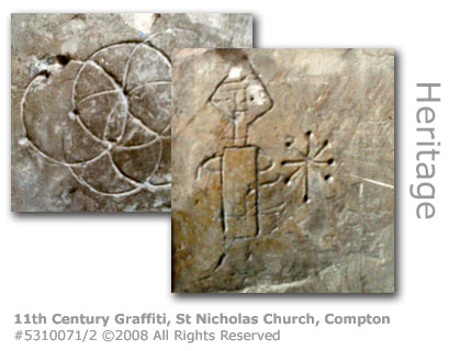11th Century Graffiti, St Nicholas Church, Compton