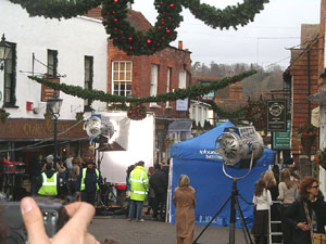 The Holiday Film Set