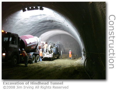 Hindhead Tunnel excavation August 2008