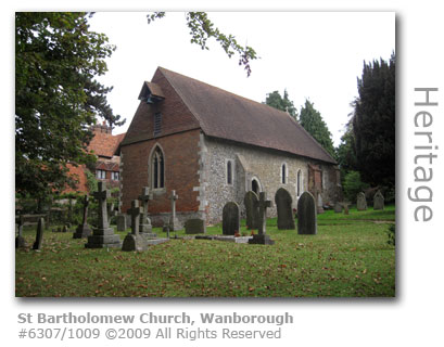 St Bartholomew Church, Wanborough near Guildford
