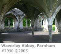 WAVERLEY ABBEY CHAPTER HOUSE