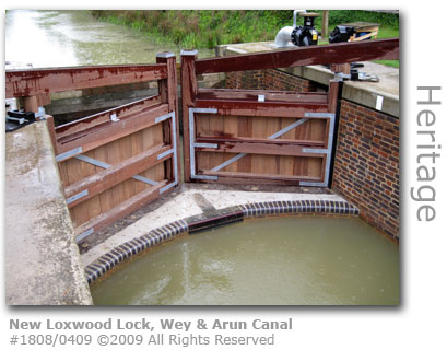 New Loxwood Lock at Wey & Arun Canal