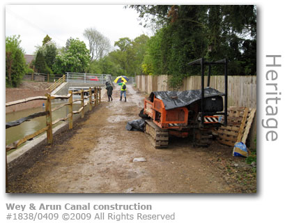 Construction at Wey and Arun Canal, Loxwood