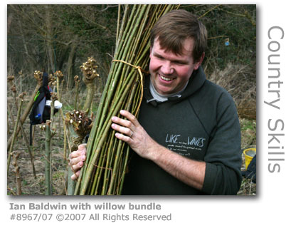 Ian Baldwin with willow bundle