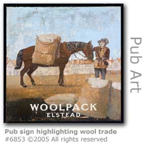 WOOLPACK PUB SIGN